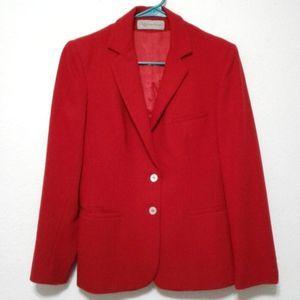 Evan Picone vintage wool blend modern cut blazer